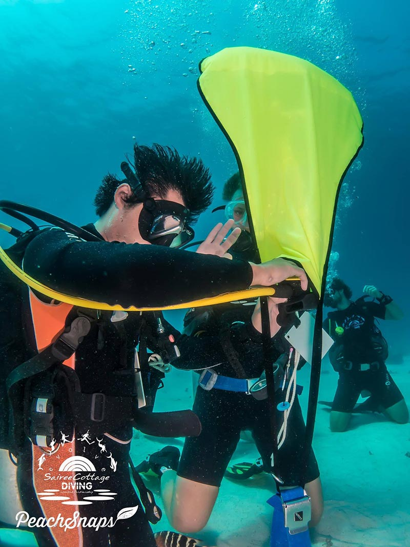 Lift Bag Practice Padi Divemaster Course